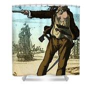 Anne Bonny, 18th Century Pirate Shower Curtain