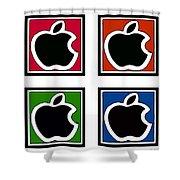 Apple Colors Shower Curtain
