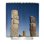Atlantes Warrior Statues Shower Curtain