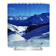 Austria Mountain Shower Curtain
