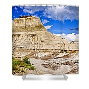 Badlands In Alberta Shower Curtain