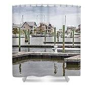 Bald Head Island Marina  Shower Curtain