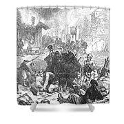 Balkan Insurgency, 1876 Shower Curtain