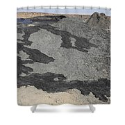 Basaltic Lava Flow From Pit Crater Shower Curtain