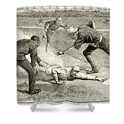 Baseball Game, 1885 Shower Curtain