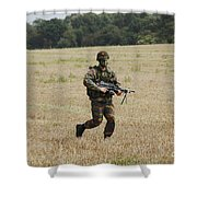 Belgian Paratroopers Proceeding Shower Curtain