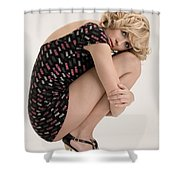 Blond Lady Shower Curtain