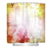 Bright Background Shower Curtain