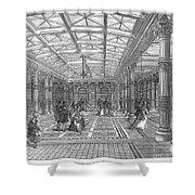 Brighton Aquarium, 1872 Shower Curtain