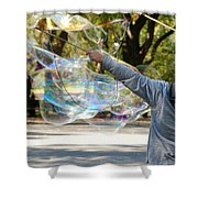 Bubble Boy Of Central Park Shower Curtain