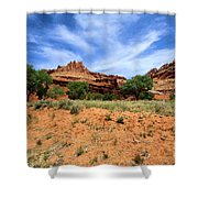 Capitol Reef Castle Shower Curtain
