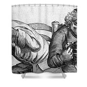 Caricature Of Two Alcoholics, 1773 Shower Curtain
