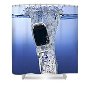Cell Phone Dropped In Water Shower Curtain