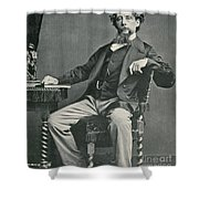 Charles Dickens, English Author Shower Curtain by Photo Researchers