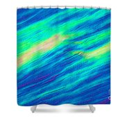 Cholesteric Liquid Crystals Shower Curtain