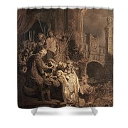 Christ Before Pilate Shower Curtain