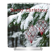 Christmas Card 2194 Shower Curtain