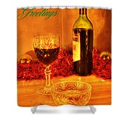 Christmas Poster Shower Curtain