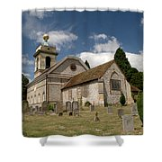 Church Of St. Lawrence West Wycombe  Shower Curtain