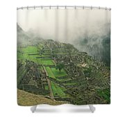 City In The Sky Shower Curtain