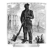 Civil War: Black Troops Shower Curtain