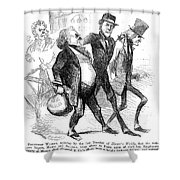 Civil War: Cartoon, 1861 Shower Curtain