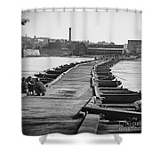 Civil War: Pontoon Bridge Shower Curtain