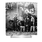Civil War: Signal Corps Shower Curtain