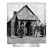 Civil War: Union Officers Shower Curtain