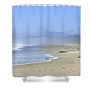 Coast Of Pacific Ocean In Canada Shower Curtain