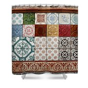 Colorful Glazed Tiles Shower Curtain
