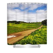 Countryside Landscape Shower Curtain by Carlos Caetano