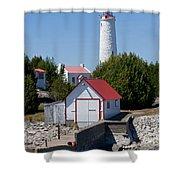Cove Island Lighthouse Shower Curtain