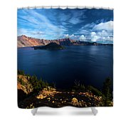 Crater Lake Blues Shower Curtain
