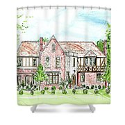 Custom House Rendering Shower Curtain