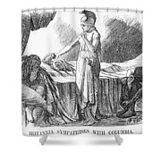 Death Of Lincoln, 1865 Shower Curtain