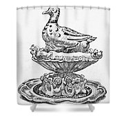 Decorative French Cuisine Shower Curtain