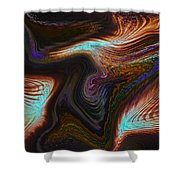Digital Abstract Shower Curtain
