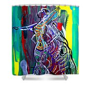 Dinka Lady - South Sudan Shower Curtain
