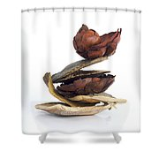 Dried Pieces Of Vegetables.  Shower Curtain