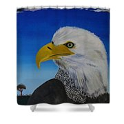 Eagle At Dusk Shower Curtain