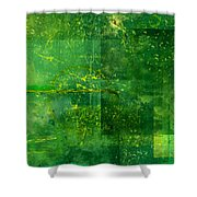 Emerald Heart Shower Curtain by Christopher Gaston
