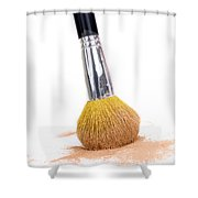 Face Powder And Make-up Brush Shower Curtain