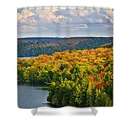 Fall Forest And Lake Shower Curtain