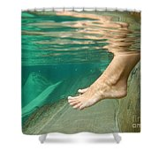 Feet Under The Water Shower Curtain