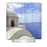 Fira - Santorini Shower Curtain