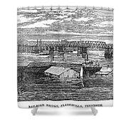 Flood: Clarksville, 1874 Shower Curtain