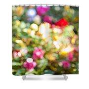 Flower Garden In Sunshine Shower Curtain