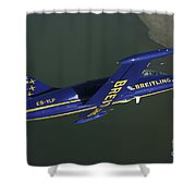 Flying With The Aero L-39 Albatros Shower Curtain