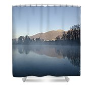 Foggy Lake Shower Curtain
